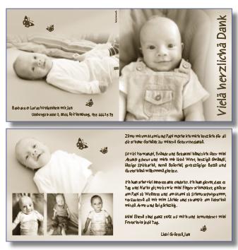 baby dankeskarte geburt babydankeskarten danke karten geburts dankeskarten. Black Bedroom Furniture Sets. Home Design Ideas