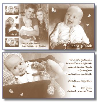 baby dankeskarte geburt babydankeskarten danke karten. Black Bedroom Furniture Sets. Home Design Ideas