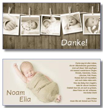 Geburtsdankeskarten Dankeskarten Baby Babydankeskarten Baby